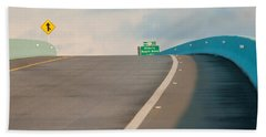 Merge To The Clouds Beach Towel