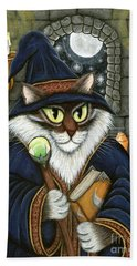 Merlin The Magician Cat Beach Towel