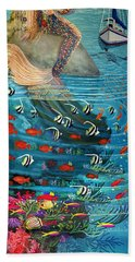 Mermaid In Paradise Beach Towel