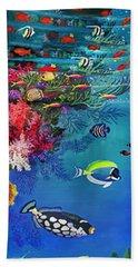 Mermaid In Paradise Complete Underwater Descent Beach Sheet