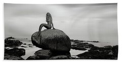 Mermaid Of The North Mono Beach Towel