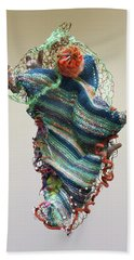 Mermaid Sculpture Beach Towel