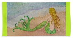 Mermaid Sunset Beach Towel