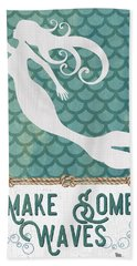 Mermaid Waves 1 Beach Towel