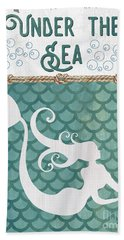 Mermaid Waves 2 Beach Towel