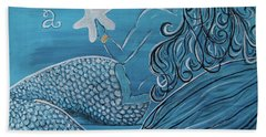 Mermaid- Wish Upon A Starfish Beach Towel by Megan Cohen