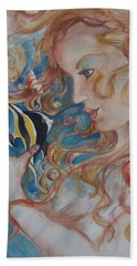 Mermaids Kiss Beach Towel