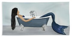 Beach Sheet featuring the painting Mermaids Relaxing Retreat by Leslie Allen