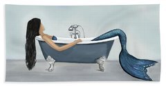Beach Sheet featuring the painting Mermaids Relaxing Room by Leslie Allen