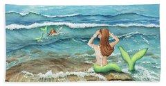 Mermomma Of Two Beach Towel