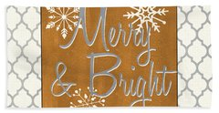 Merry And Bright Beach Towel