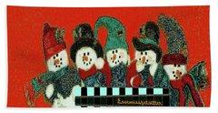 Merry Christmas Art 45 Beach Towel