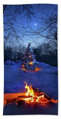 Beach Towel featuring the photograph Merry Christmas by Phil Koch