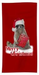 Merry Christmas -  Raccoon Beach Sheet by Gravityx9 Designs
