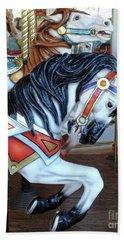 Merry Go Round Horses - Carnival Festival Fair Prints Home Decor - Carousel Horses Beach Towel
