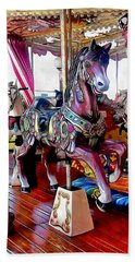 Merry Go Round Horses Beach Sheet