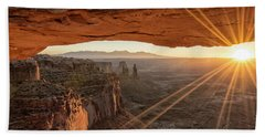 Mesa Arch Sunrise 4 - Canyonlands National Park - Moab Utah Beach Sheet by Brian Harig