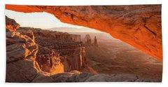 Mesa Arch Sunrise 5 - Canyonlands National Park - Moab Utah Beach Sheet