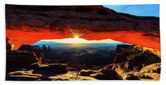 Mesa Arch Sunrise Beach Towel