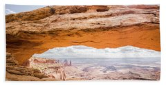 Mesa Arch Sunrise Beach Sheet by JR Photography