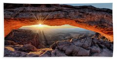 Mesa Arch Sunburst By Olena Art Beach Towel