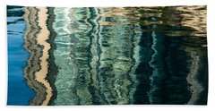 Mesmerizing Abstract Reflections Two Beach Sheet