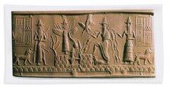 Mesopotamian Gods Beach Sheet