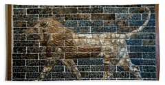 Mesopotamian Lion Beach Towel