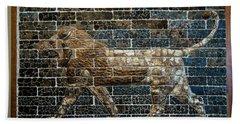Mesopotamian Lion Beach Towel