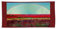Message From The Other Side With A Bit Of Christmas Color Cheer Beach Towel by Kimberlee Baxter