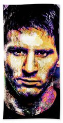 Messi Beach Sheet by Svelby Art