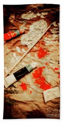 Messy Painters Palette Beach Towel