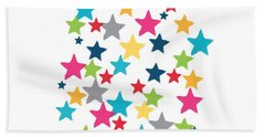 Messy Stars- Shirt Beach Towel
