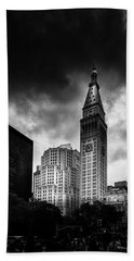 Beach Towel featuring the photograph Met-life Tower by Marvin Spates