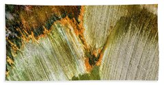 Beach Towel featuring the photograph Metal Abstract  by David Waldrop