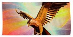 Metal Bird 1 Of 4 Beach Sheet