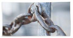 Metal Chain Railing Fragment Beach Towel