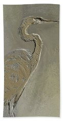 Metal Egret 3 Beach Towel