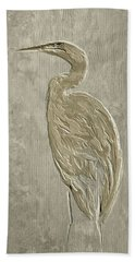 Metal Egret 4 Beach Towel