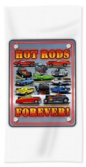 Metal Hot Rods Forever Beach Towel