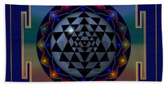 Metal Mandala Beach Towel