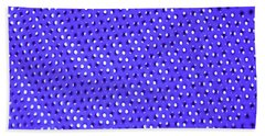Metal Panel Blue Abstract Beach Towel by Tom Janca
