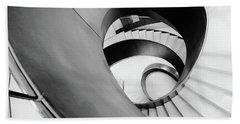 Metal Spiral Staircase London Beach Towel