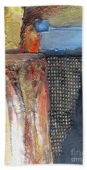 Metallic Fall With Blue Beach Towel
