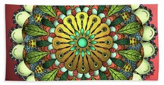 Metallic Mandala Beach Towel