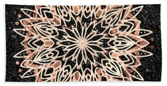 Beach Towel featuring the digital art Metallic Mandala by Bee-Bee Deigner