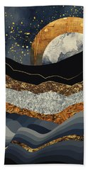 Metallic Mountains Beach Towel by Katherine Smit