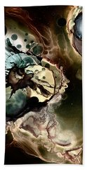 Beach Towel featuring the painting Metallic Nebula by Patricia Lintner