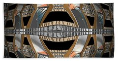 Metallic Sphere Beach Towel