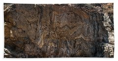 Metamorphic Geologic Wall In Kings Canyon Giant Sequoia National Monument Sequoia National Forest Beach Towel